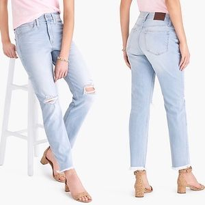 J CREW mercantile light wash slim boyfriend jeans